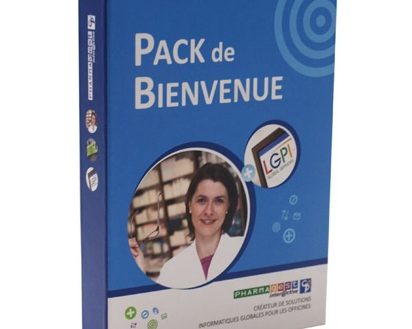 Pack with magnetic closure