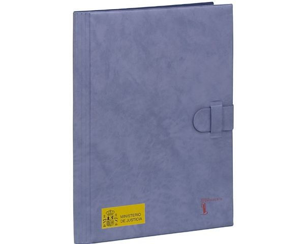 Conference folder in plastic with soft suede-like finish