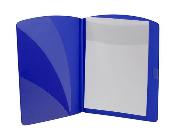 Conference notepad folder with exclusive semi-transparent finish