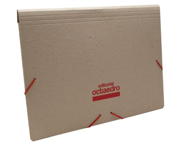 Recycled cardboard folder with elastic band