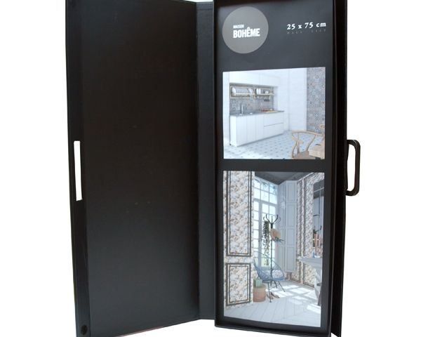 Large sample briefcase for wall tiles