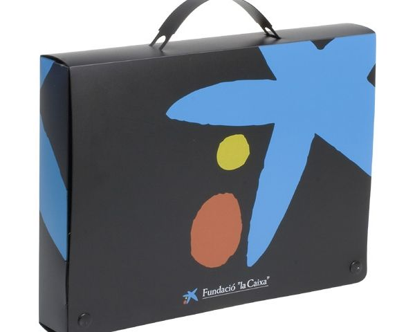 Polypropylene document briefcase with handle