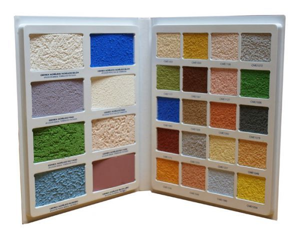Sample colour catalogue for mortar and plaster samples