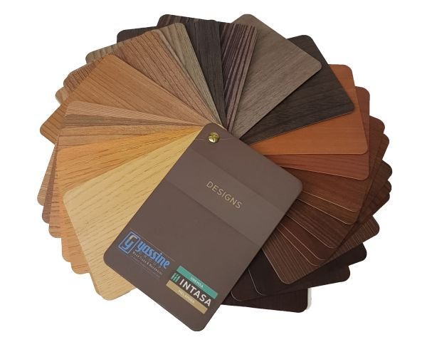 Sample swatch for the presentation of coloured wood samples