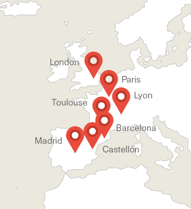 Map of places where you can find Mytplast